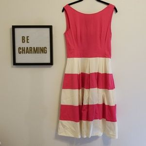Kate spade pink and white striped dress size 10
